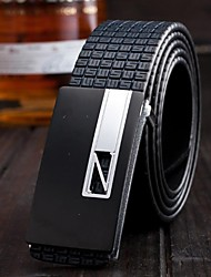 Unisex's Fashion in Occident Z Smooth Buckle Leisure Genuine Leather Belt