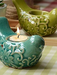 Wedding Décor Ceramic Bird Candle Holder (More Colors)
