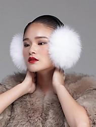 unisex autentici volpe bianca paraorecchie pelliccia earwarmers