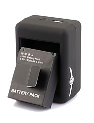SMJ Smart Fast Dual-Charging Charger +301 Batteries Travelling Set for Gopro Hero3+/3