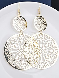 Fashion Vintage Hollow Out Personality Women Round Earrings