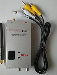 2.4G 12CH récepteur vidéo sans fil pour le vol FPV