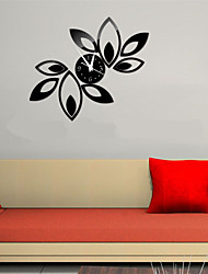 3d bricolage de style moderne nouvelles feuilles reflètent horloge murale