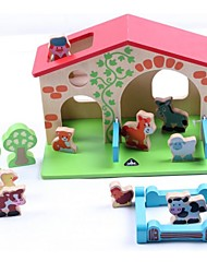 Животные Ферма строительные блоки игрушки