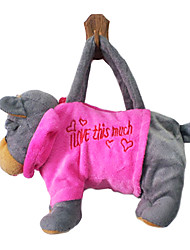 Cartoondog Design Plush Toys Soft Hand Bag(Random Color)
