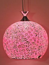 rosa colgante de vidrio mosaico