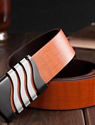 noir brillant ceinture de rupture interne véritable forme en cuir pour hommes