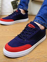 Zapatos de Hombre - Sneakers a la Moda - Casual - Semicuero - Negro / Azul / Gris