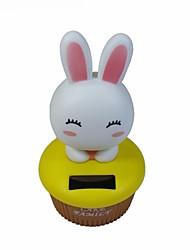 Cute Rabbit Shaking Head Solar Powered Toys