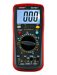 UA78C+ Digital Multimeter with LED Backlight AC DC Voltage Current Resistance Capacitance 10 MΩ Manual Range