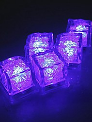 LED Light Touch Shiny Purple Lights Ice Cubes (12PCS)