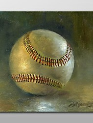 Hand Painted Oil Painting Still Life Baseball  by Hall Groat II with Stretched Frame