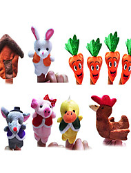 10PCS Mr.Bonnie's Carrot Soup The Fairy Tale Finger Puppets Kids Talk Prop