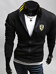 Lendi Men's Stand Collar Embroidery Leisure Sports Jacket