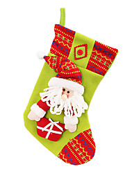 "16"" Santa Claus Flannelette Christmas Gift Stocking"