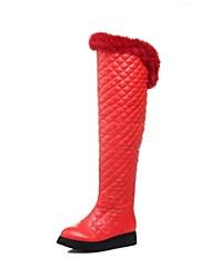 sapatos femininos de salto baixo sobre as botas do joelho mais cores disponíveis