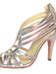 latin Frauen Sandalen Pfennigabsatz Reißverschluss Tanzschuhe (weitere Farben)