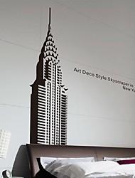 autoadesivi della parete decalcomanie della parete, moderna New York gli autoadesivi della parete della costruzione dello stato Impero pvc