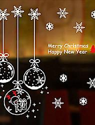 """brinquedos dos desenhos animados feliz natal linda e etiqueta da janela de neve (22.08 """"w × 22.44"""" l)"""