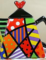 QIANDU Painting Porcelain Teapot, Coffeepot for Festival Gift