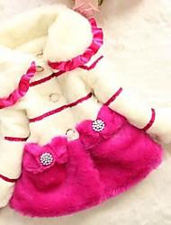 Mode Leoparden Mäntel Mädchens schöne Prinzessin Wintermäntel