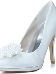 Feminino Wedding Shoes Saltos/Bico Fino Saltos Casamento/Festas & Noite Preto/Azul/Rosa/Marfim/Branco
