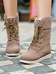 sapatos femininos rodada toe ankle boots salto baixo mais cores disponíveis