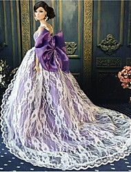 Barbie Doll Mysterious Princess Purple Evening Party Dress