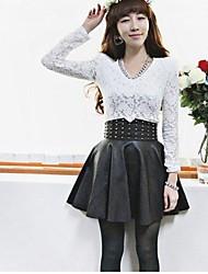 Women's Black Skirts , Cute Mini