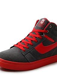 les chaussures des hommes d'espadrilles bout rond talon plat haute aide de la mode des chaussures