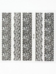 Lovely Nail Art Stickers Decals Wedding Lace Series Nail Accessory for Acrylic Nail Tips DIY Nail Art DecorationsNO.12