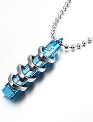 religiosos bíblicos quatro anéis em pingente de colar um tubo de zinco para homens liga