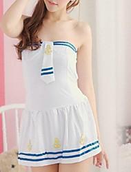 lingerie blanche pack des agents de bord de femmes