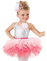 Performance Dancewear Children's Lycra Sequin Ballet Dance Dress Kids Dance Costumes