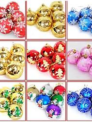christmas ball stampa a colore decorazione (set di sei) (più colori) (colori casuali)