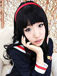 Card Captor Sakura Daidouji Tomoyo rizado peluca cosplay