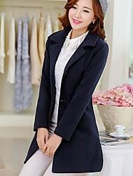 prendas de vestir exteriores delgada de la manga larga de la solapa de las mujeres (más colores)