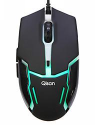 qisan camaleón x5 usb 2000dpi Opitcal ratón para juegos