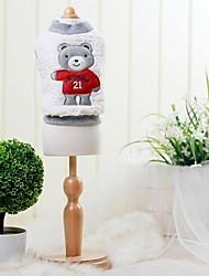 pet fashion ursinho bolha colete gola redonda suéter para animais de estimação cães (cores sortidas, tamanhos)