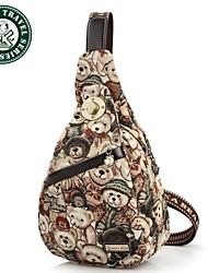 Daka Bear® pacote de peito de lazer saco de desporto mensageiro mochila saco mochila meninas