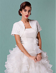 Wedding  Wraps Coats/Jackets Short Sleeve Tulle White Wedding / Party/Evening 38cm