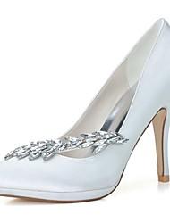 Feminino Wedding Shoes Saltos/Bico Fino Saltos Casamento/Festas & Noite Preto/Azul/Rosa/Roxo/Marfim/Branco/Prateado