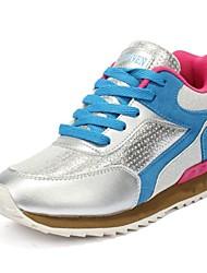 Chaussures femme ( Bleu/Rose/Rouge ) - Cuir - Marche