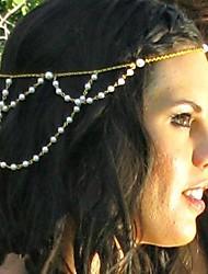 vrouwen vintage mode imitatie parel kwasten legering hoofdband (1 st)