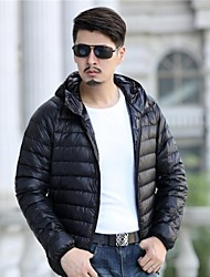Men' Fashional Insulation Short Down Jacket with Hat