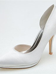 Women's Spring / Summer / Fall Heels / Pointed Toe Satin Wedding / Party & Evening Stiletto HeelBlack / Blue / Pink / Purple / Ivory /