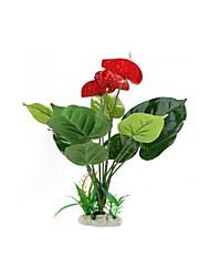 plástico planta la flor pecera decoración del acuario estanque artificial