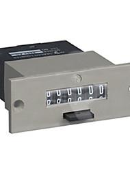 6 chiffres décompte électromagnétique contre 51 × 25mm réinitialisation DC6V-220v-220v pour CA24V usine lfc-6