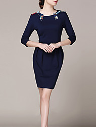 Lifver Women's Round Neck Bodycon Dress