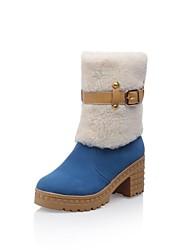 damesschoenen snowboots dikke hak enkellaarsjes meer kleuren beschikbaar